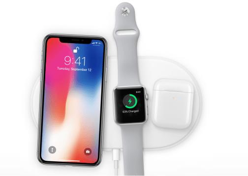 ▲Apple 更同時推出 AirPower 配件,可以同時為 iPhone X、Apple Watch 及 AirPod 無線差電,但暫時未有售價及推出日期。