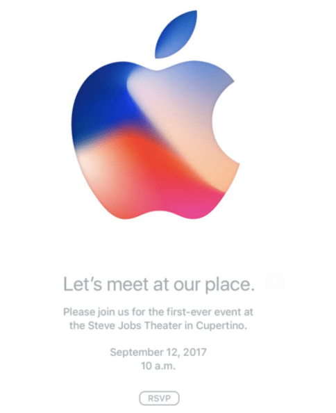 2017年Apple邀請函
