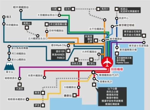 廣域觀光巴士路線圖