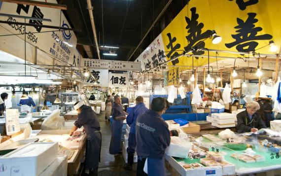 tsukiji魚市-築地市場