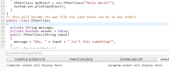 Compile Java
