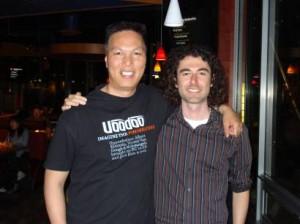 John Chow and Yaro Starak at the Vancouver Dot Com Pho 2008