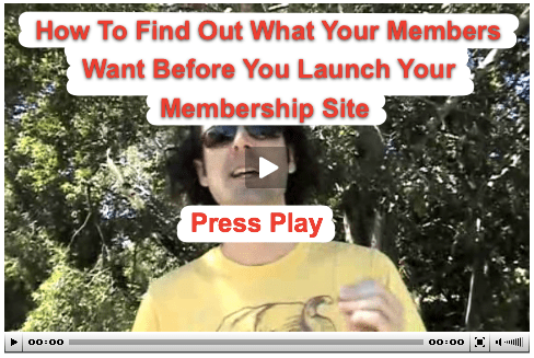 Membership Site Survey - Press Play