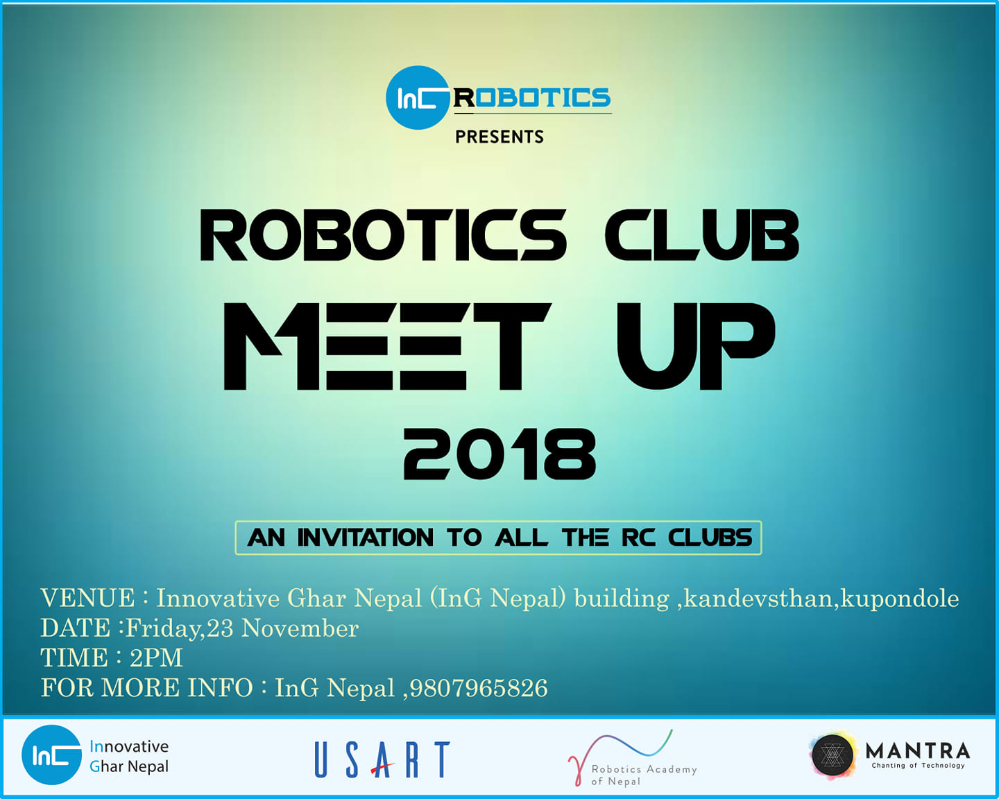 InG Nepal is organizing Robotics Club Meetup 2018