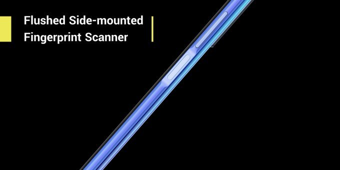 flushed side-mounted finger print scanner