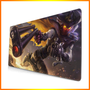 Large Mouse Pad for Jhin with Stitched Edges