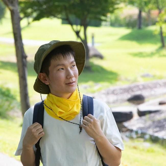 日本製、山形発、立体スポーツマスク。ネックゲイター