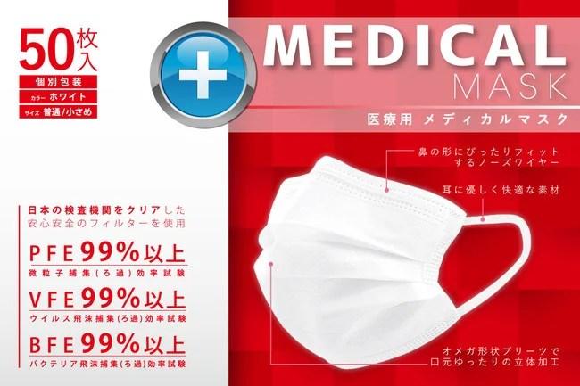 医療用メディカルマスク