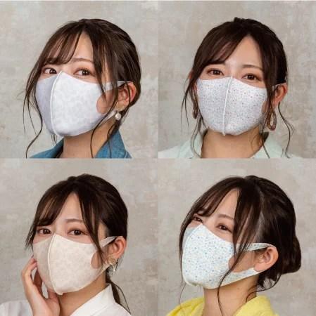 TAKUMIBA、総柄プリントマスク