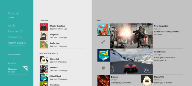 recent players MZ 26 2 2014 png 1024x461 - Xbox One Review
