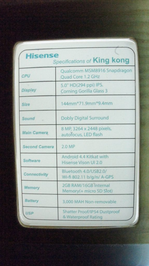 DSC01552 574x1024 - Hisense marks Middle East launch of super-sturdy  'King Kong' smartphone