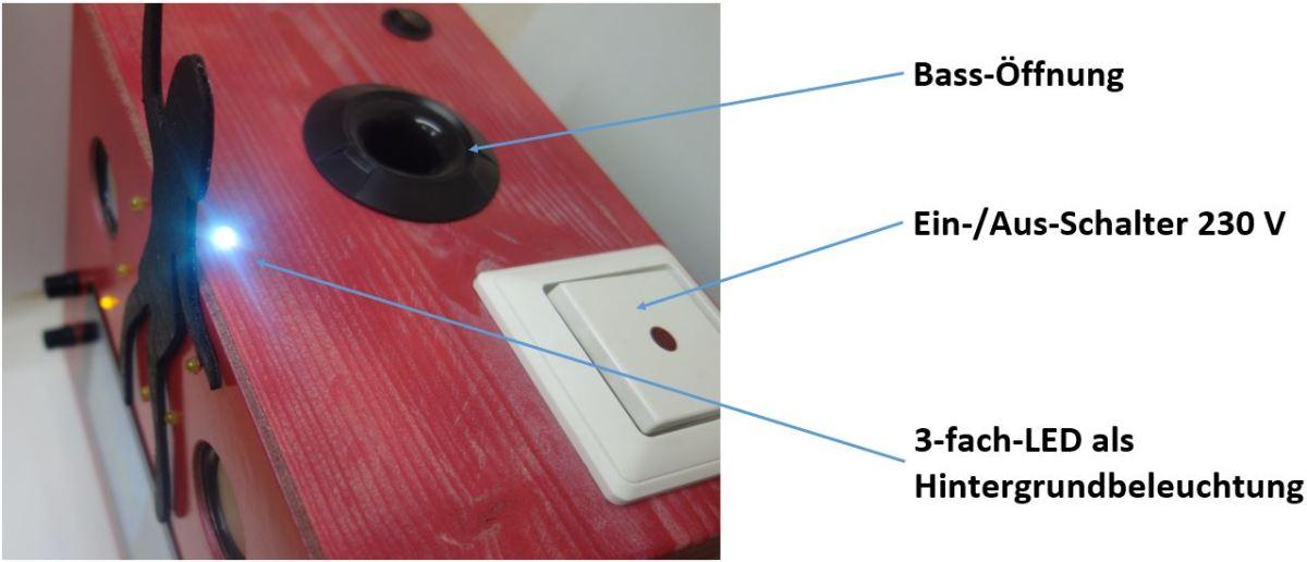 Ein-/Aus-Schalter der Netzteile