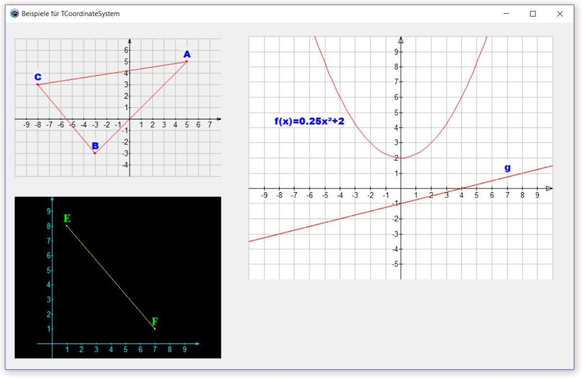 Beispiele für TCoordinateSystem