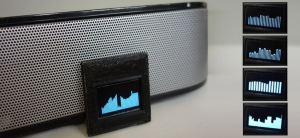 Audio spectrum with 128×32 display