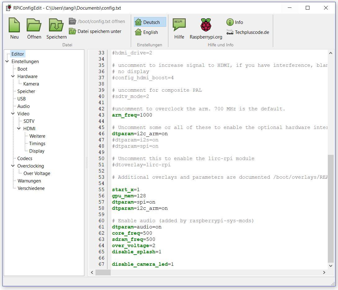 Editor mit Syntax Highlighting