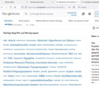 Google Books zeigt für Bücher eine einfache Schlagwortwolke an