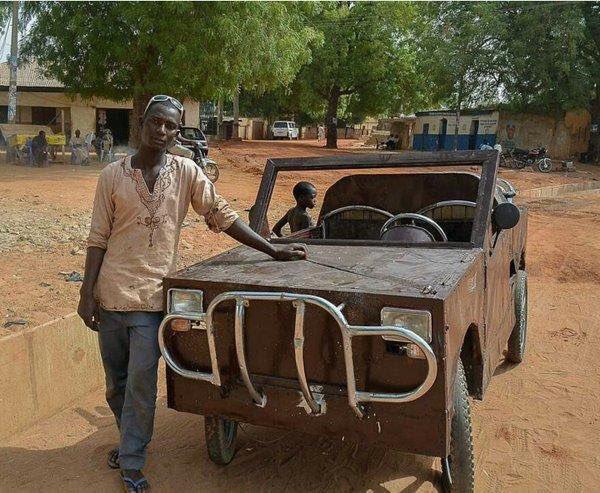 Muzzamil Umar, an SS3 student in Kebbi, built a car with