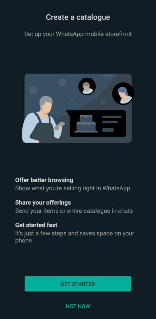 WhatsAppBusiness Create a catalogue