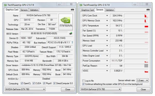 ASUS GTX 780 STRIX OC GPUZ (2)