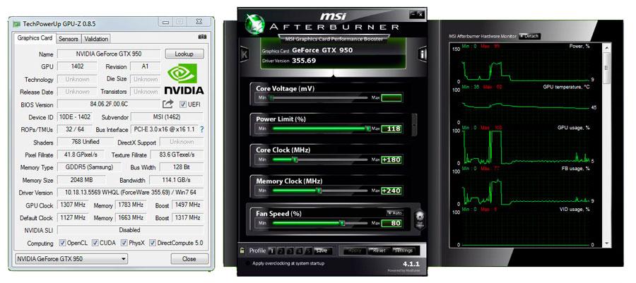 MSI GTX 950 GAMING 2G System (2)