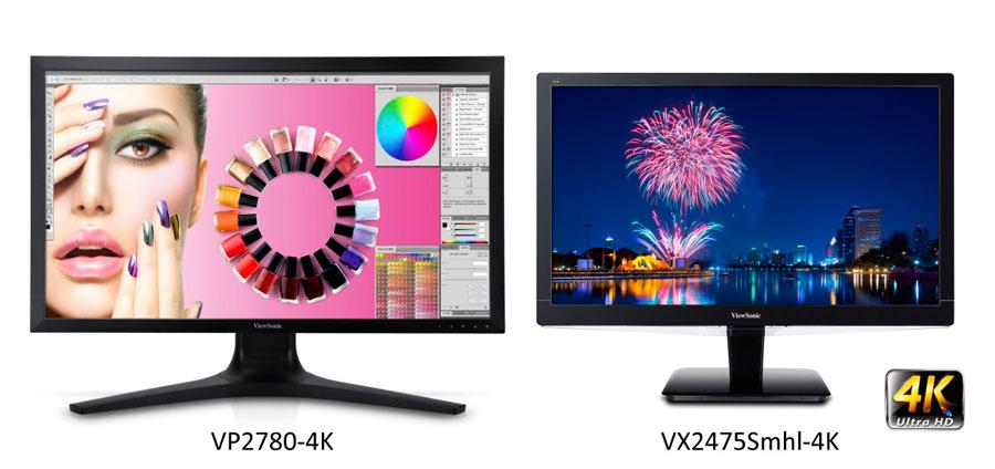 ViewSonic VP2780-4K VX2475SMHL-4K PR
