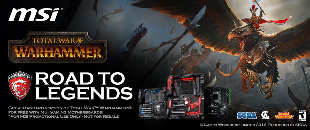 get total war warhammer free with selected msi motherboards techporn