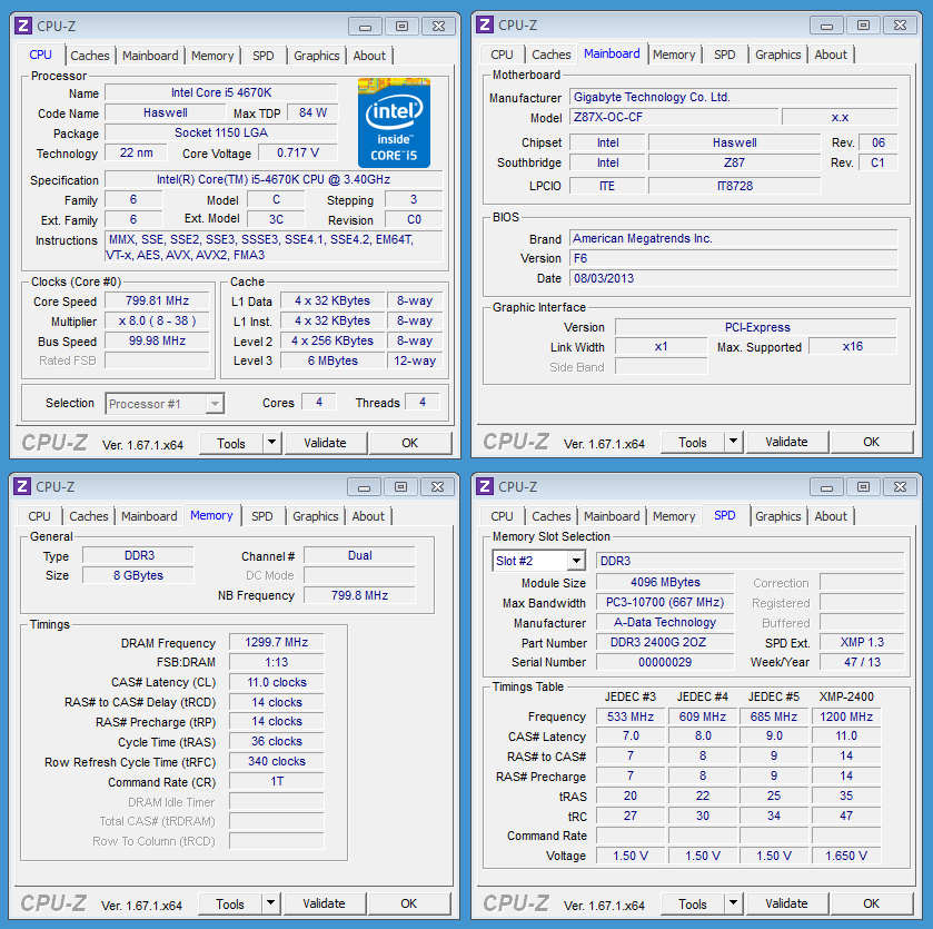ADATA XPG V2 2400 CPU-Z OC