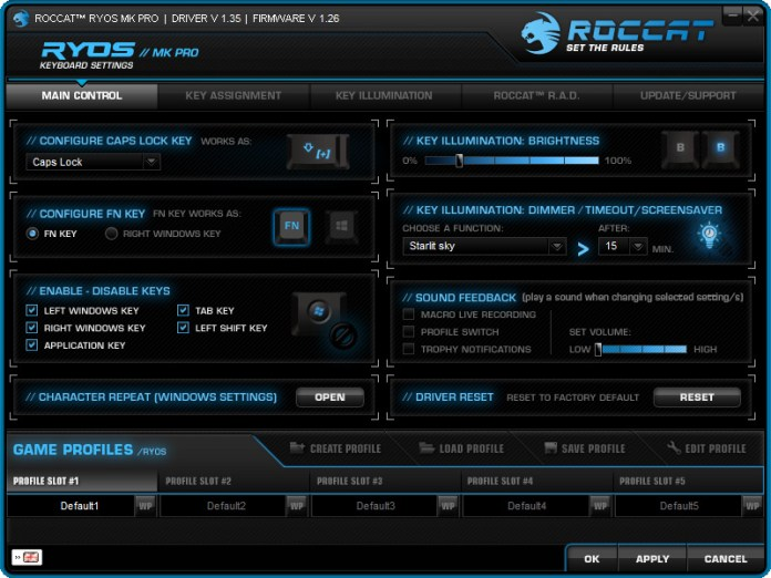 ROCCAT Ryos Software (1)