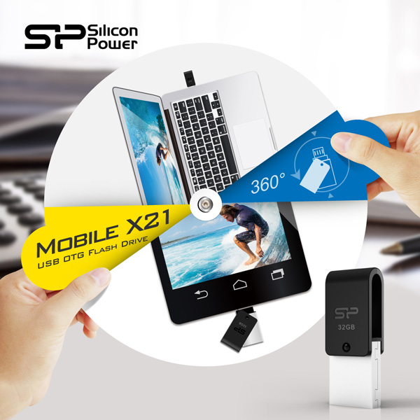 Silicon Power Releases the Mobile X21: USB 2 0 OTG Flash