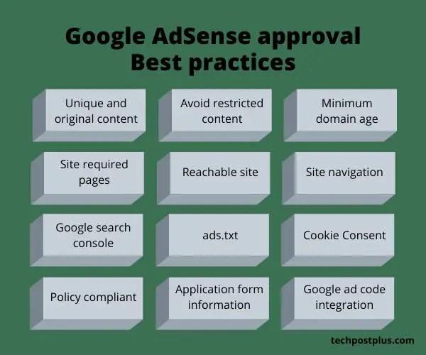 Google Adsense approval best practics
