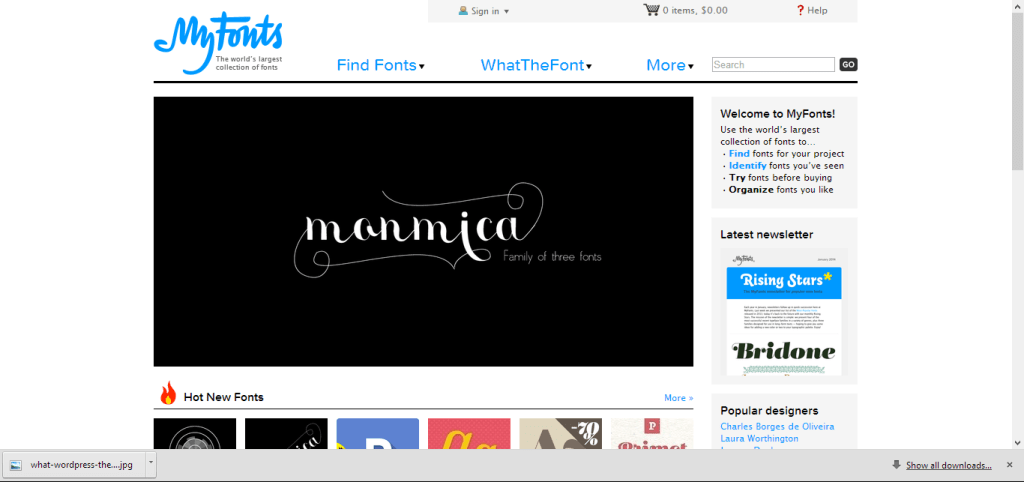 MyFonts_ Fonts for Print, Products & Screens
