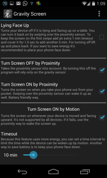Gravity Screen Uses Sensors to Turn your Phone On, Off Automatically