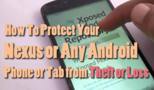 Protect android from theft