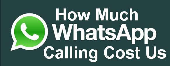 Find  actual dollar figure of using WhatsApp voice calls - techposts