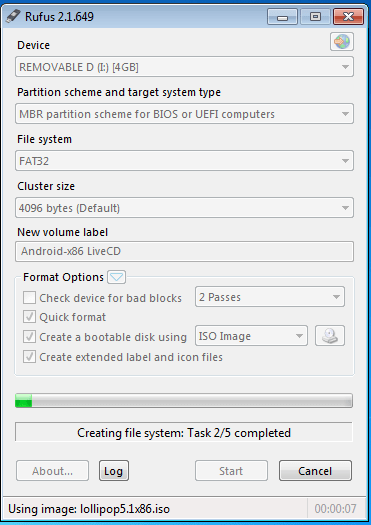 Creating Android x86 Marshmallow Bootable USB Disk