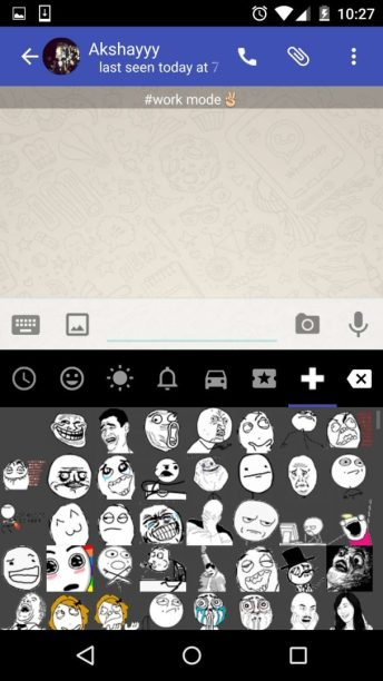 Additional memes and Emoticons with Whatsfapp -Techposts