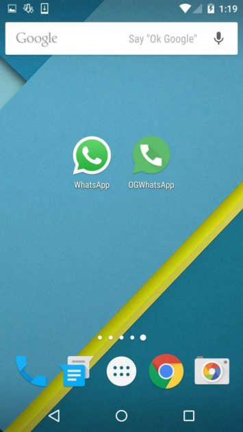 OGWhatsapp and Whatsapp in Single Android Device -Techposts
