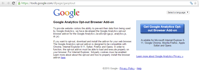 Opt Out Google Analytics -Techposts