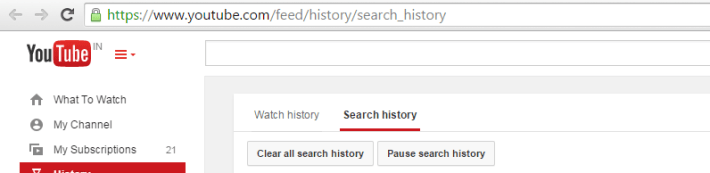 Youtube Search History -Techposts