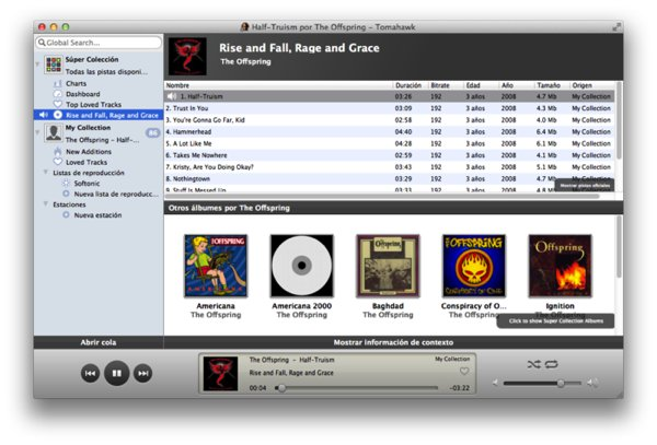 tomahawk - iTunes Altenative for Mac, iOS, Windows and Linux