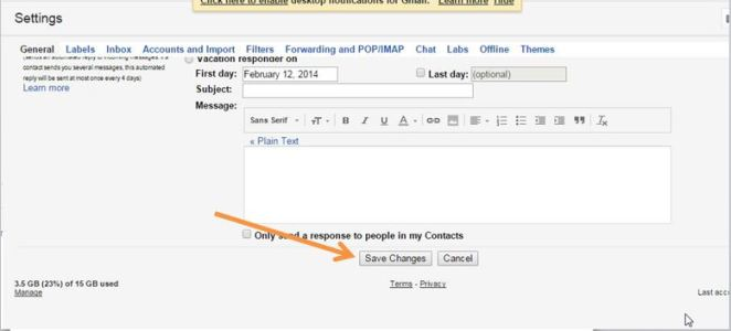 Click on Save Changes - Gmail Undo Feature