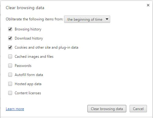 clear History from chrome to make it faster