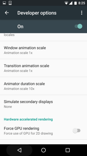 Find Animator Duration Scale under Developer Options in Settings menu -Techposts
