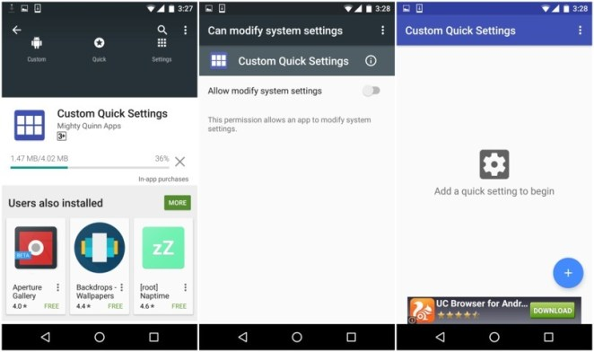 Install and Run Custom Quick Settings