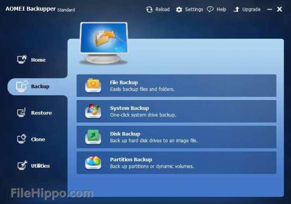 AOMEI Backupper for data backup