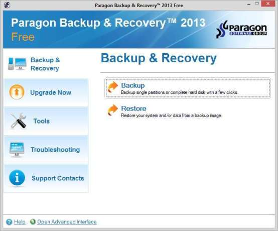 Paragon Backup and Recovery Utility