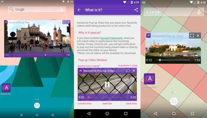 Awesome Popup Video App for Android
