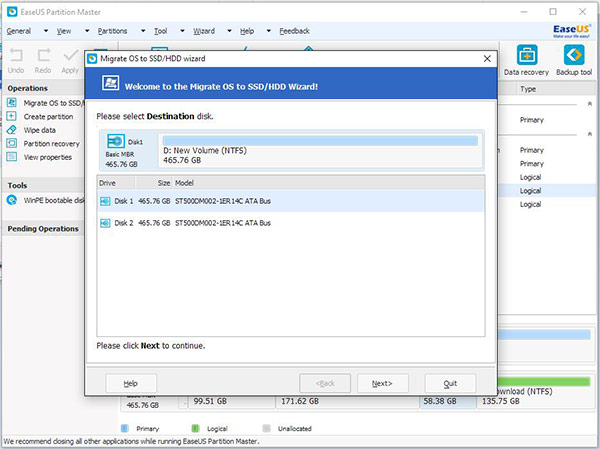 Partition manager EaseUS