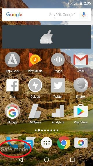 Safe-Mode Android