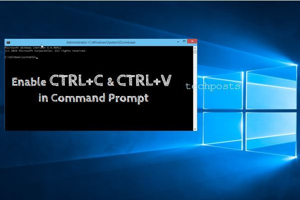 Enable Copy-Paste in Windows CMD